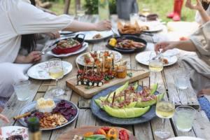 víno, girlování, maso, zdravý, jídlo