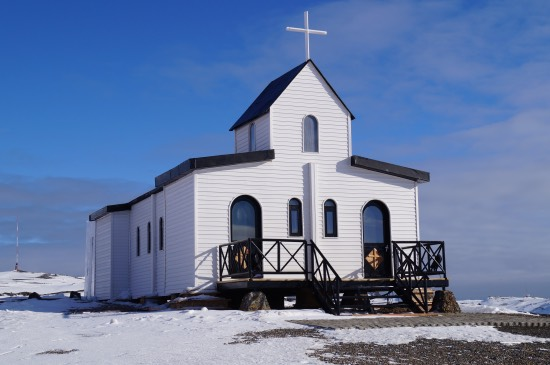 kostel ve Villa las Estrellas