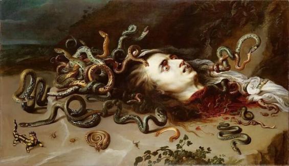 Hlava Medusy podle Rubense
