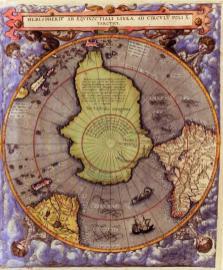 Mapa jižní polokoule (1593)