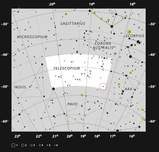 souhvězdí dalekohled