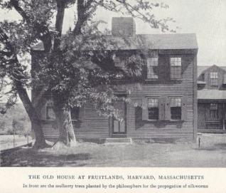 Farma Fruitlands. Foto z roku 1915. Zdroj: Volné dílo