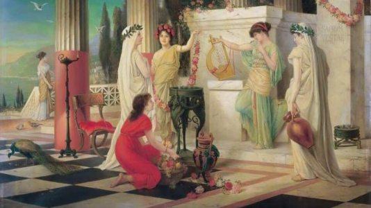 Vestálky vchrámu bohyně Vesty