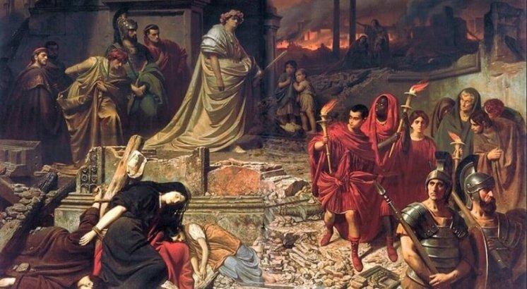 požár říma