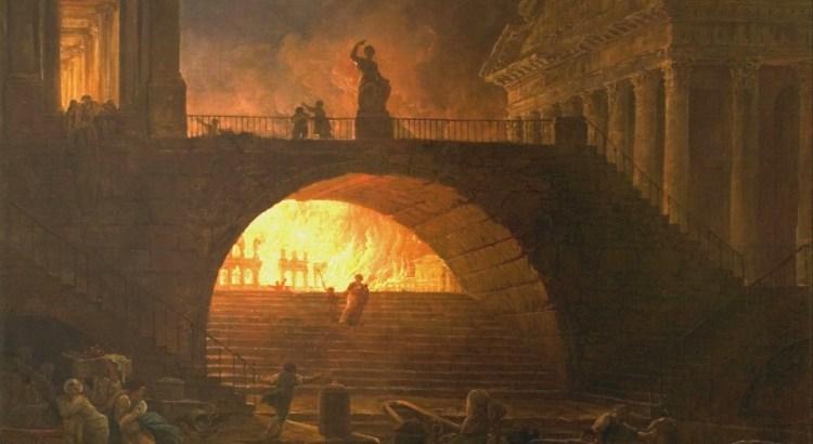 Hubert Robert - Požár Říma