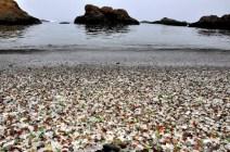 skleněná pláž