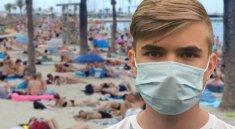 pláž koronavirus
