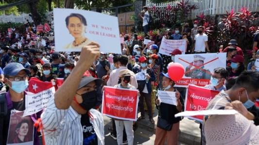 Demostrace Myanmar