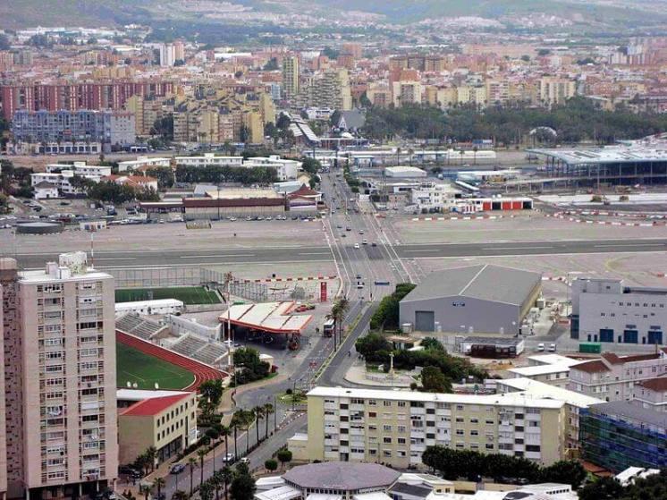 Unikátní křižovatka na Gibraltaru