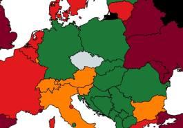 Mapa zemí podle míry rizika nákazy. Zdroj: mzcr.cz