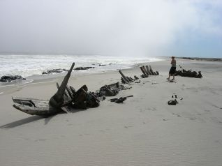 Trosky na pobřeží Koster