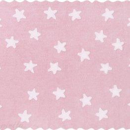 roza preproga z zvezdicami in volančkih