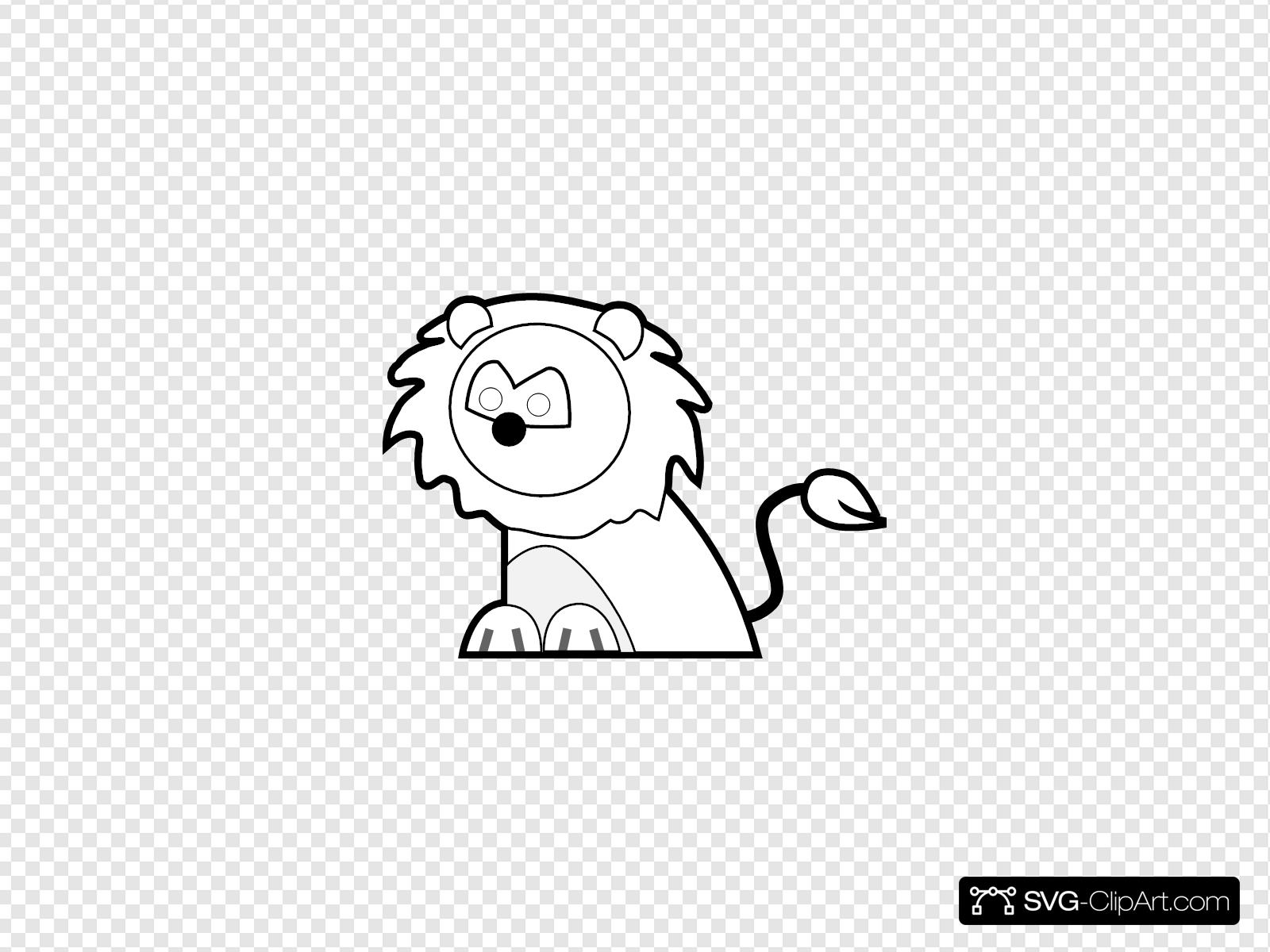 Black And White Lion Svg Vector Black And White Lion Clip Art Svg Clipart