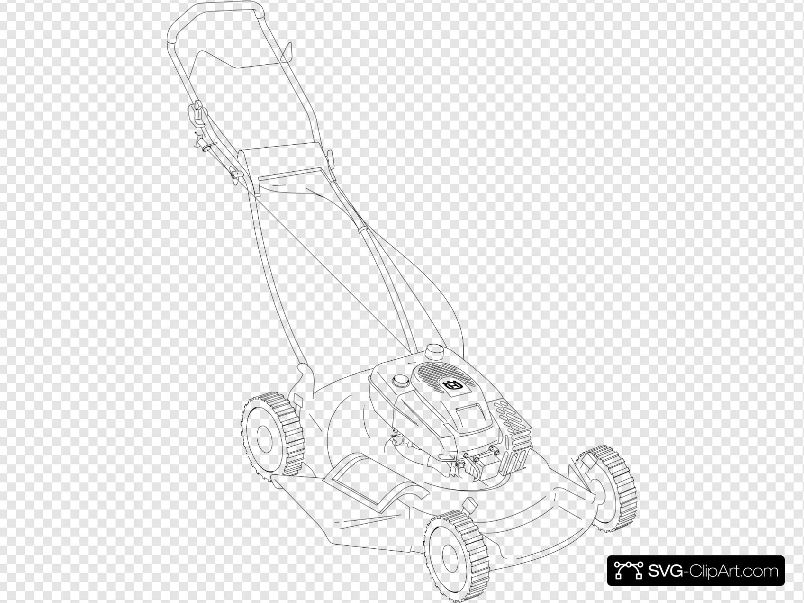 Push Mower Clip Art Icon And Svg