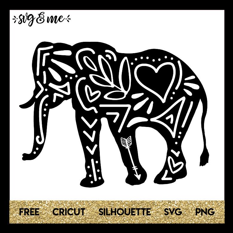 Download Free SVG Doodle Elephant - SVG & Me