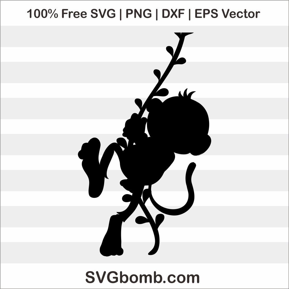 Download The Monkey Silhouette SVG Cut File | SVGbomb.com