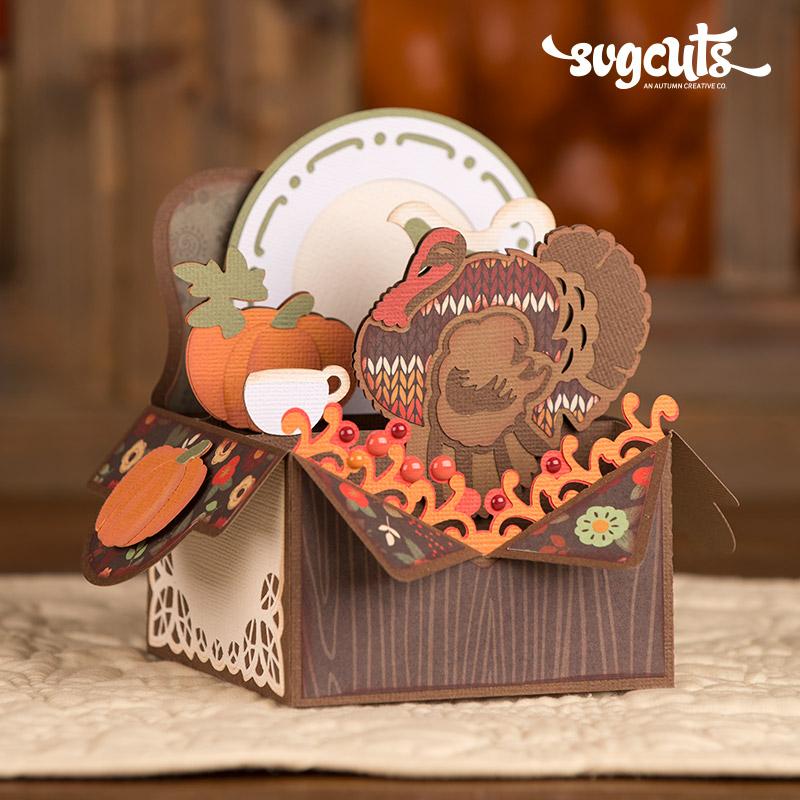 Autumn Box Cards SVG Kit Blog