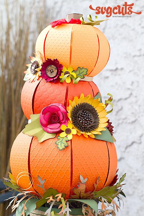 Fallin Pumpkins Centerpiece By Ilda Dias Blog