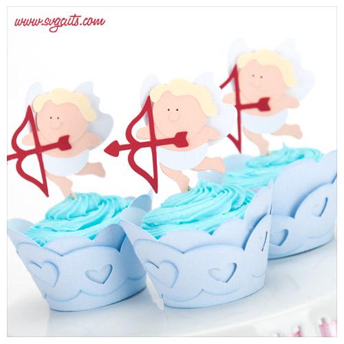Valentine Cupcake Wrappers SVG Kit Blog