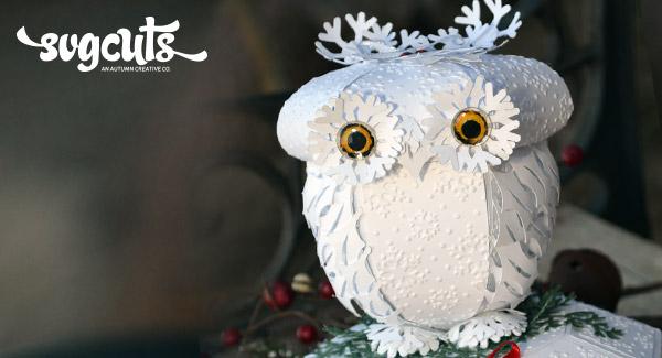 Winter Snow Owl Keepsake Box By Guest Designer Sharalyn