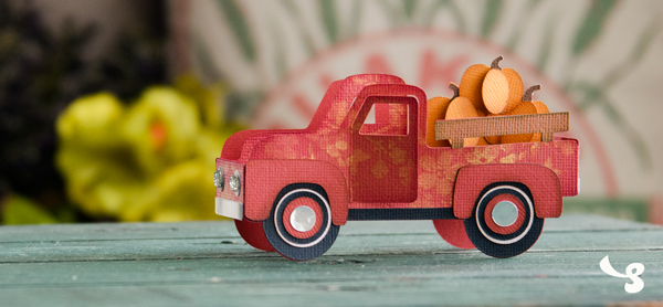 Design Inspiration Pumpkin Truck Box Card Blog