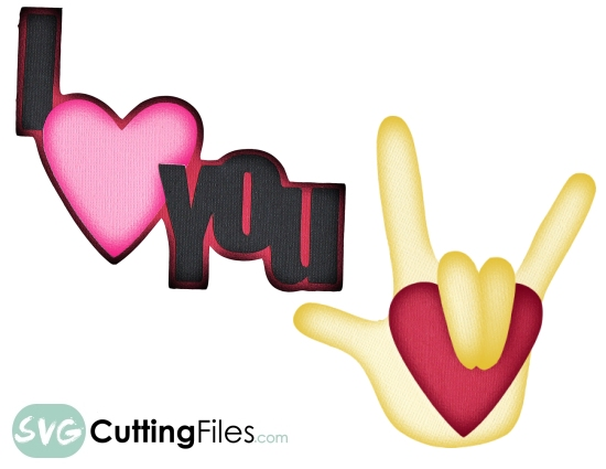 Download Free Sign Language I Love You SVG Cutting File