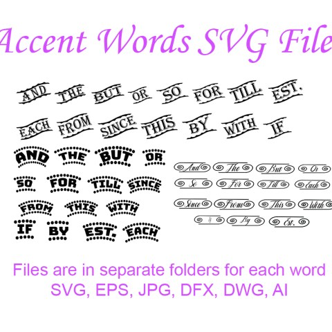 Free SVG File Accent Words