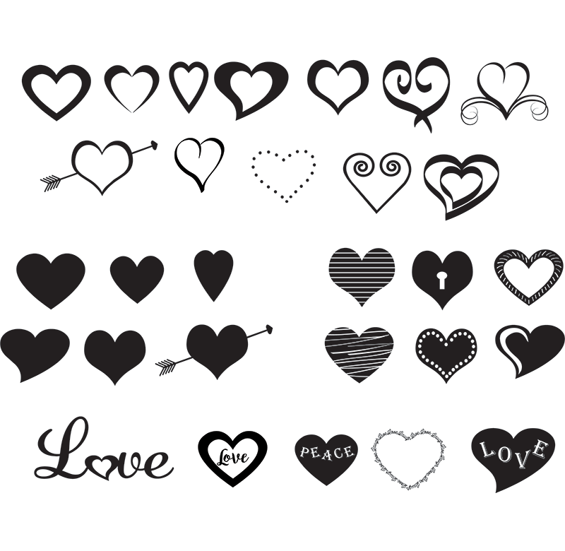 free svg file hearts