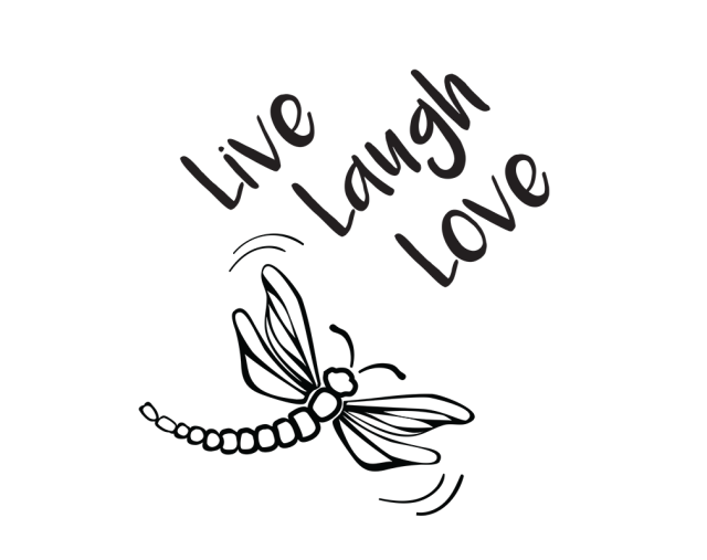 Download Free SVG File~Live Laugh Love Dragonfly