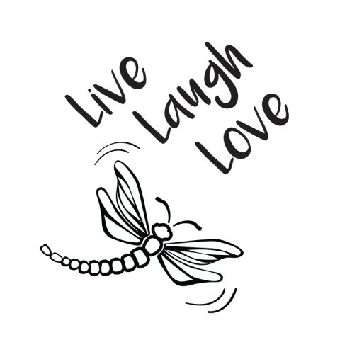 Free SVG File Live Laugh Love Dragonfly