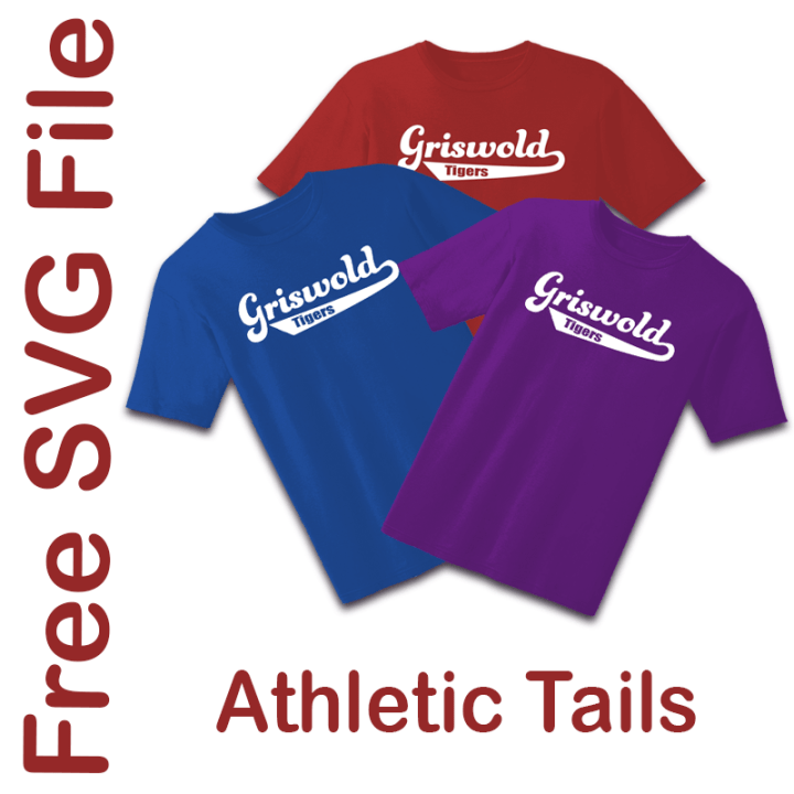Free SVG File Athletic Tails