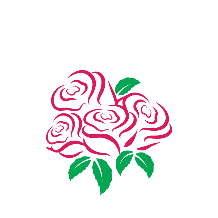 triple rose two color svg file