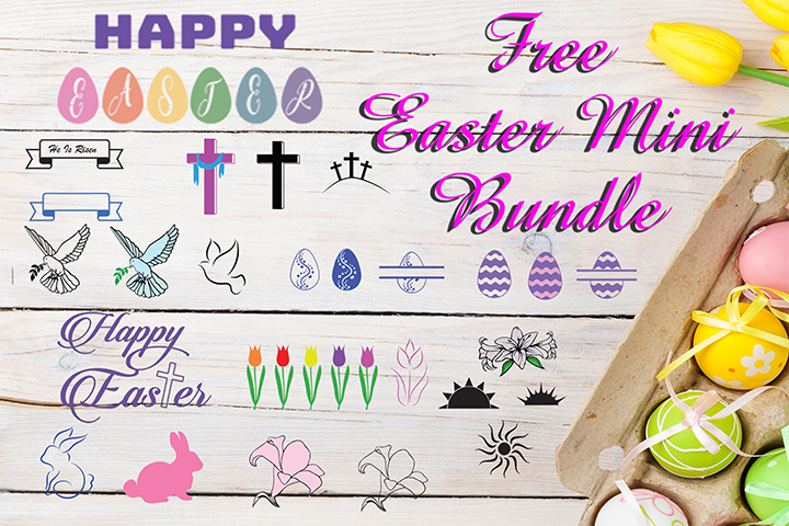 Free SVG Easter Mini Bundle