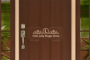 Free SVG Decorative Address Decal