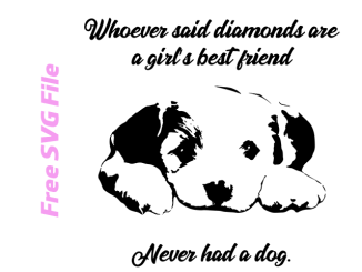 girl's best friend, cute puppy free svg