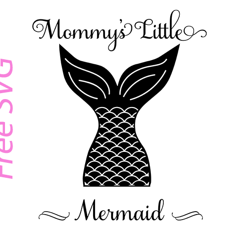 mommys little mermaid free svg
