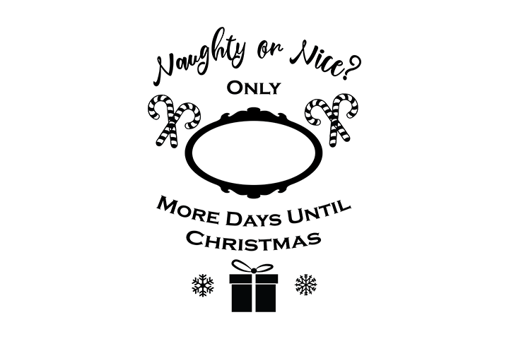How Many More Days Until Christmas.Days Until Christmas Free Svg File