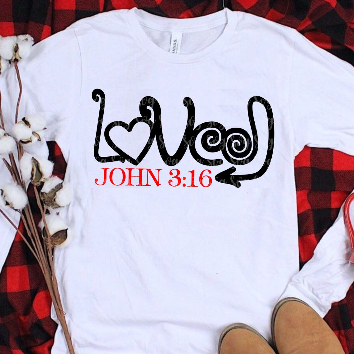 Download Loved John 3:16 svg eps png dxf cutting files for ...
