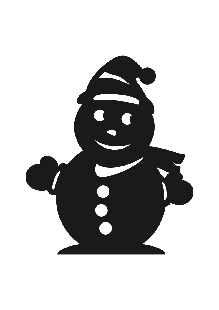 Download Snowman Silhouette Free SVG File - SvgHeart.com