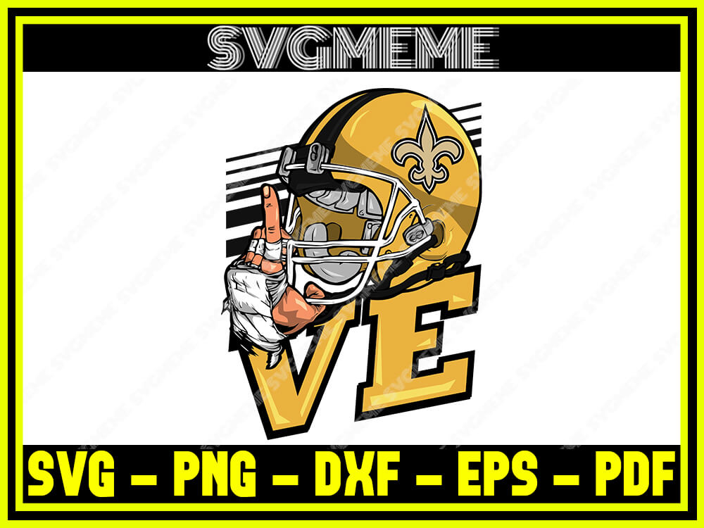 Download Love New Orleans Saints Nfl SVG PNG DXF EPS PDF Clipart ...