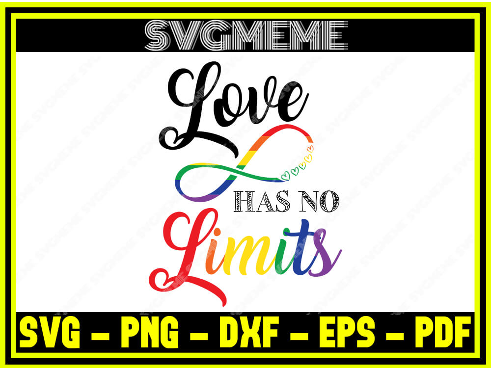 Download Love Has No Limits SVG PNG DXF EPS PDF Clipart For Cricut ...