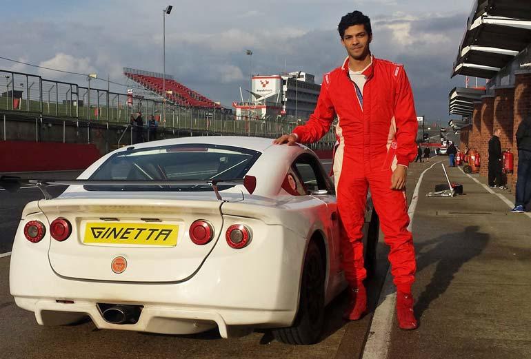 Mohamed Elshimy SVG Motor Sport Ginetta racer