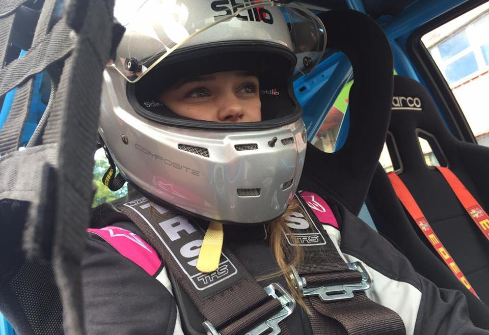 Charlotte Birch JSCC racer with SVG Motor Sport