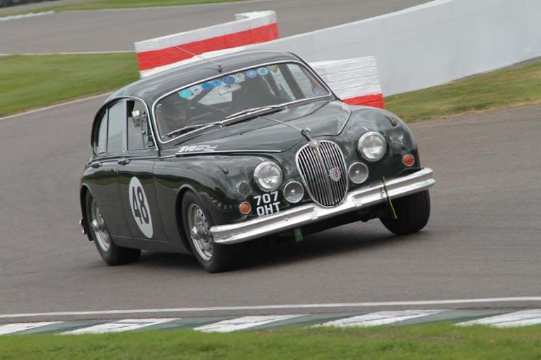 Jaguar Mk2 race car at Goodwood