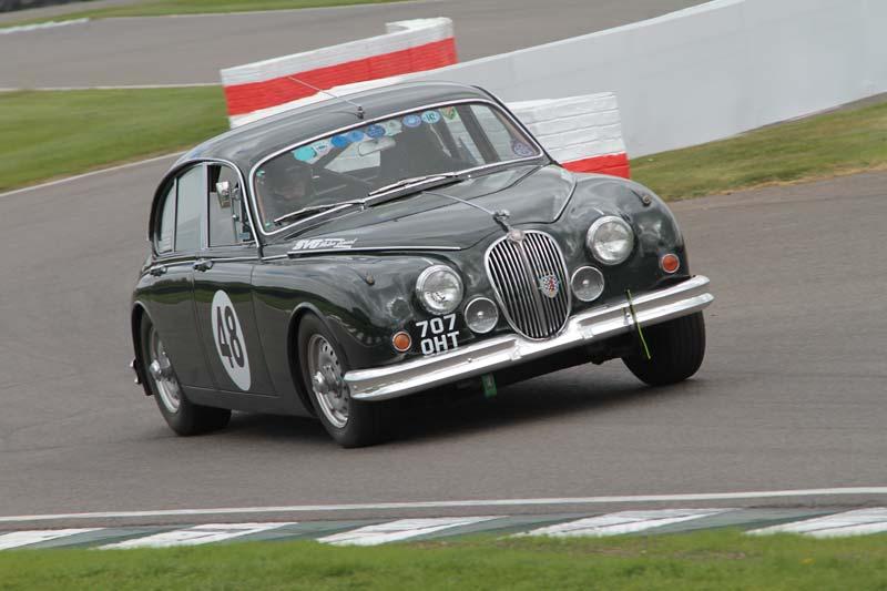Jaguar Mk2 race car at Goodwood