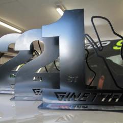Ginetta race winners trophies