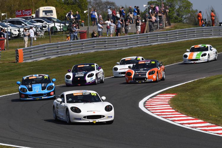 Alistair Barclay on his way to Ginetta hat-trick