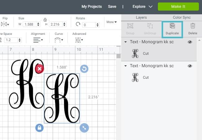 duplicate-letter-cricut-design-space