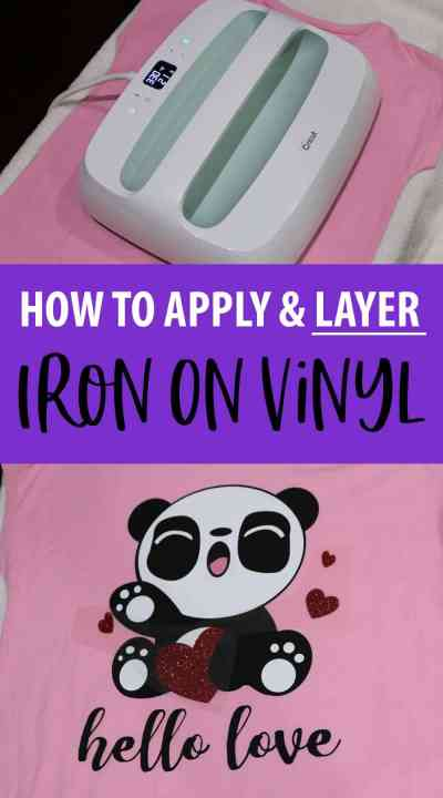 How to Apply and Layer Iron on Vinyl
