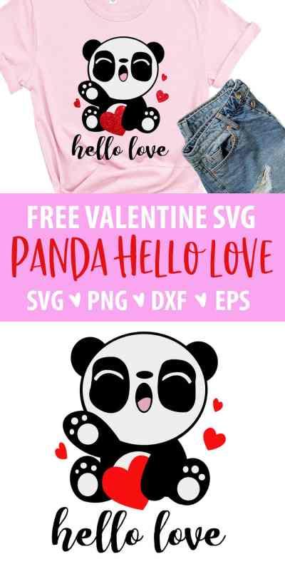 Valentine's Day Panda SVG